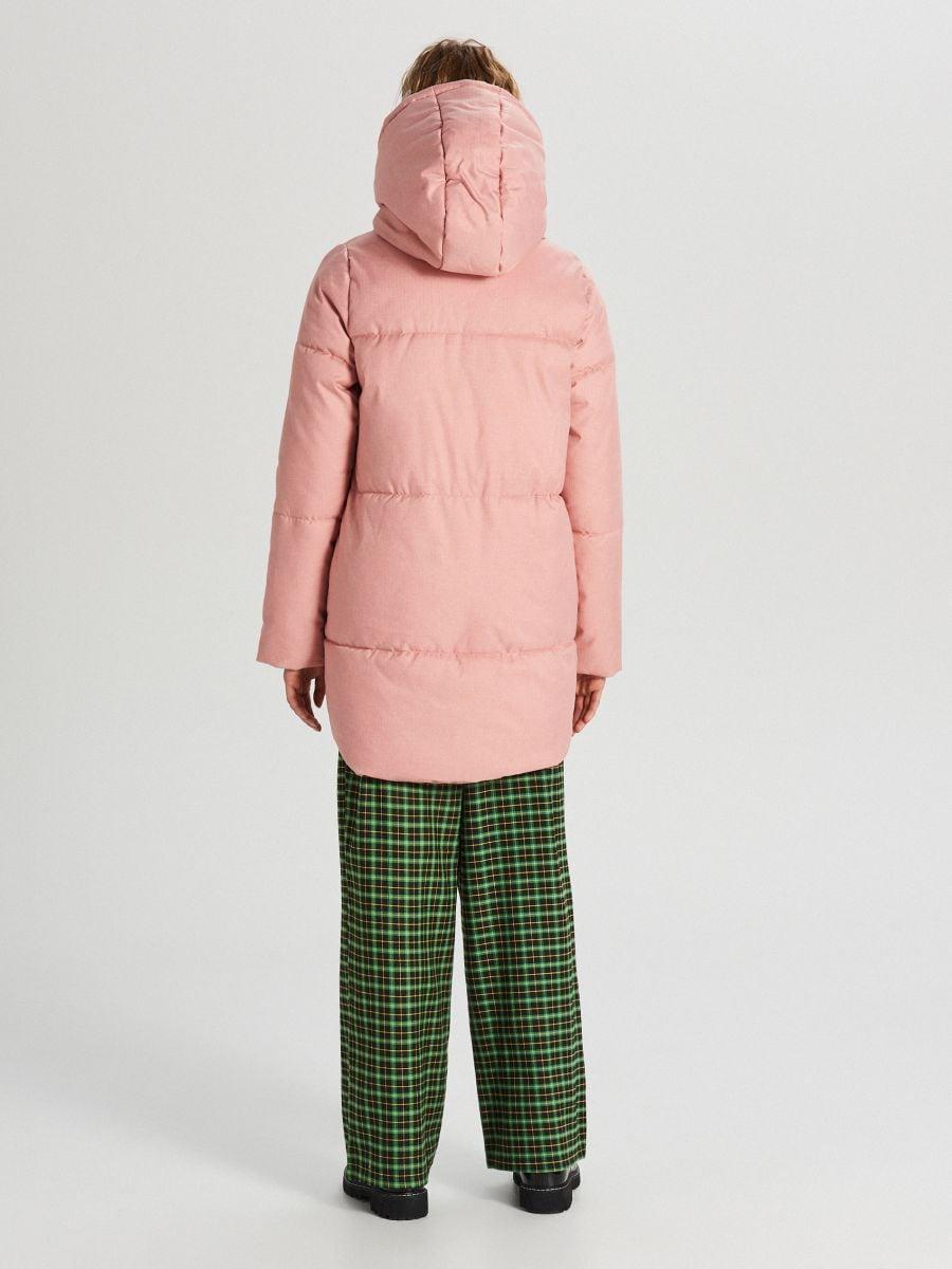 Prešívaná bunda s kapucňou - Ružová - WG285-03X - Cropp - 6