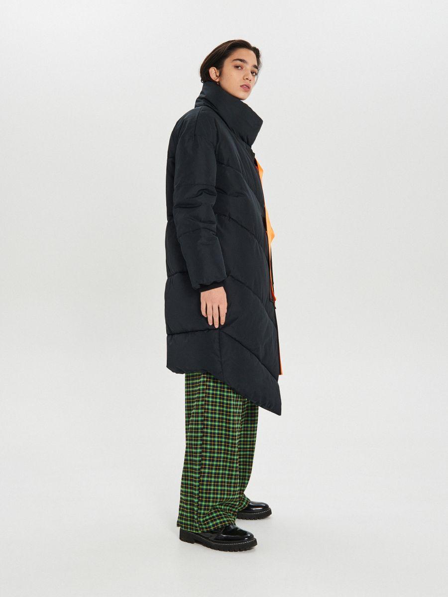 Prešívaná zimná bunda s dodatočnými prackami - Čierna - WG306-99X - Cropp - 5