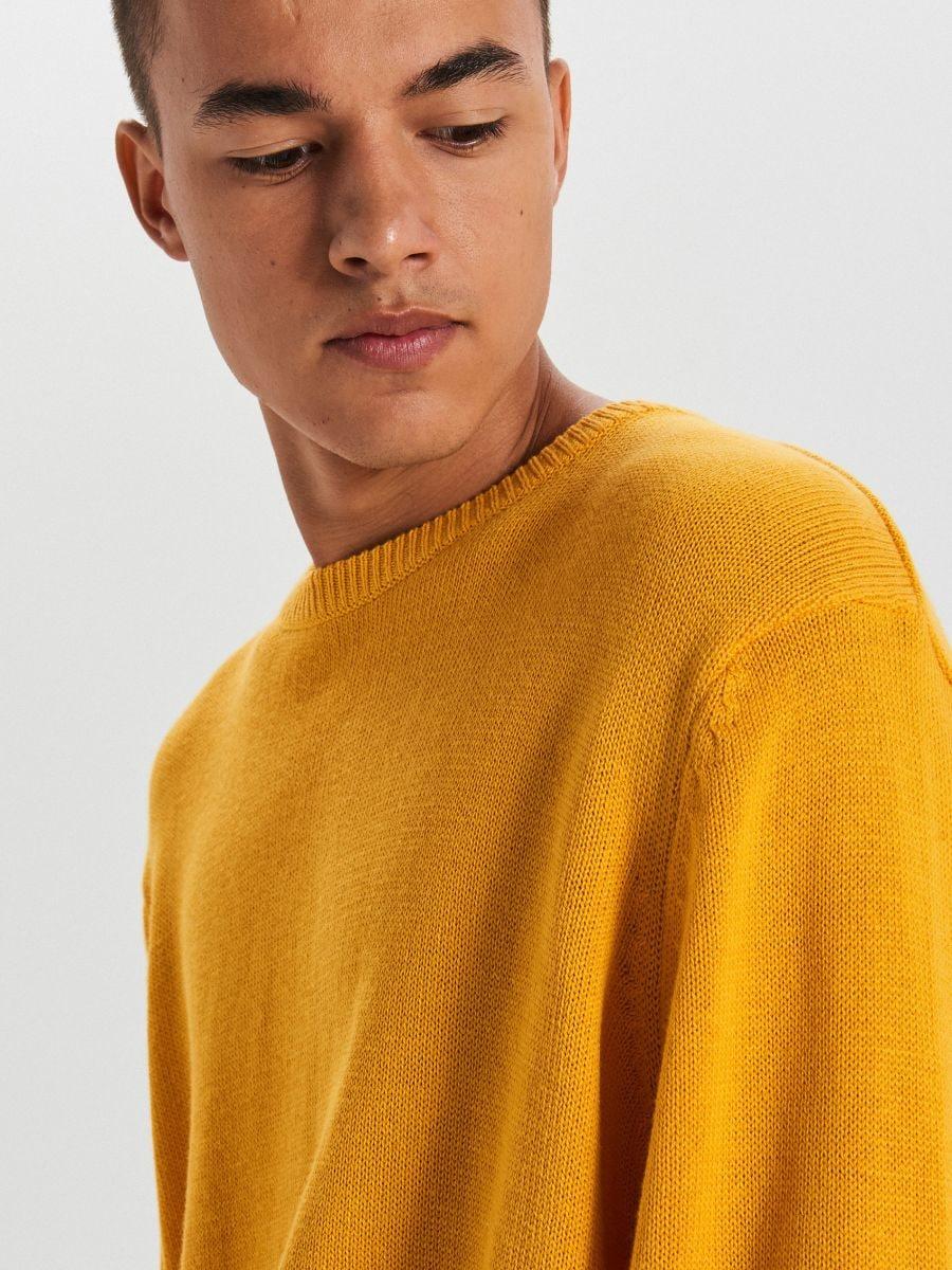 Hladký sveter - Žltá - WG371-18X - Cropp - 3