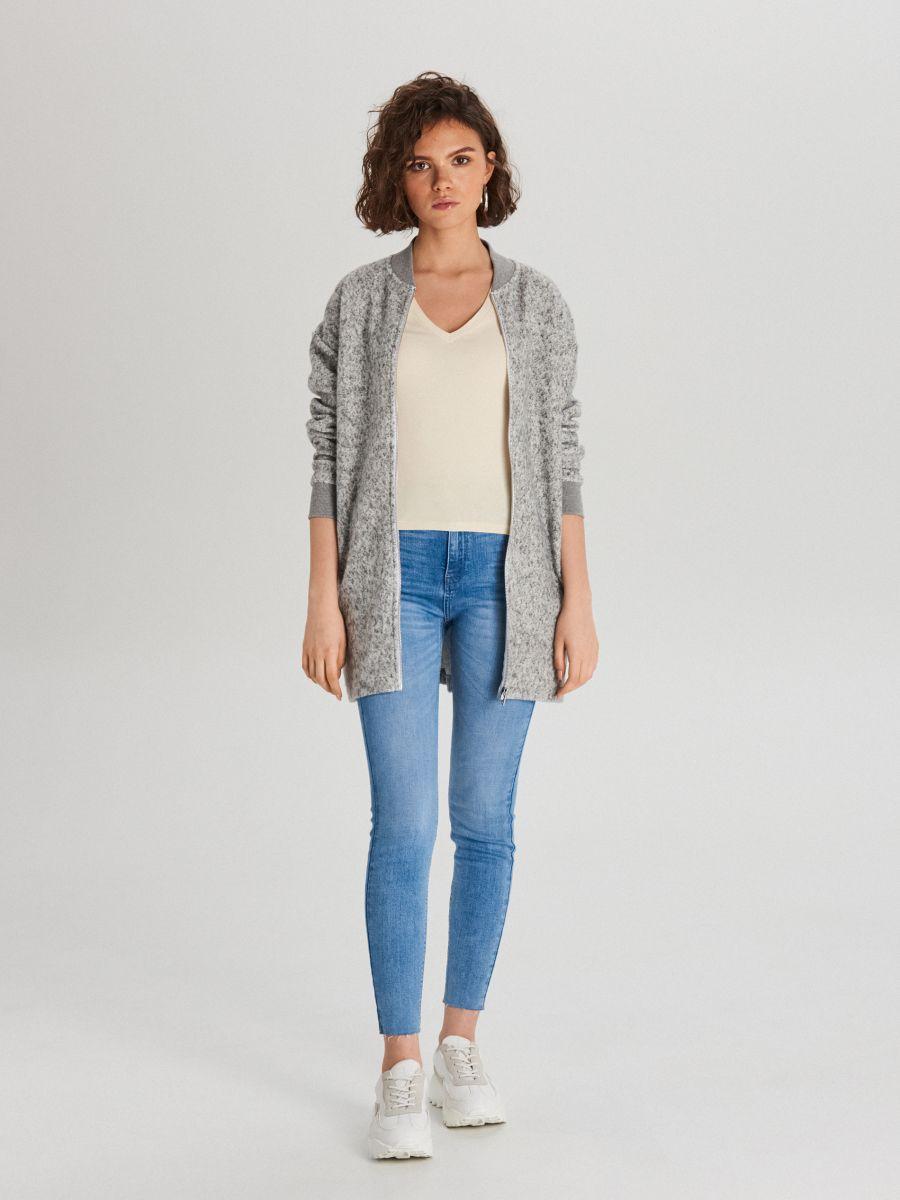 Hladké tričko - Krémová - WH168-02X - Cropp - 2