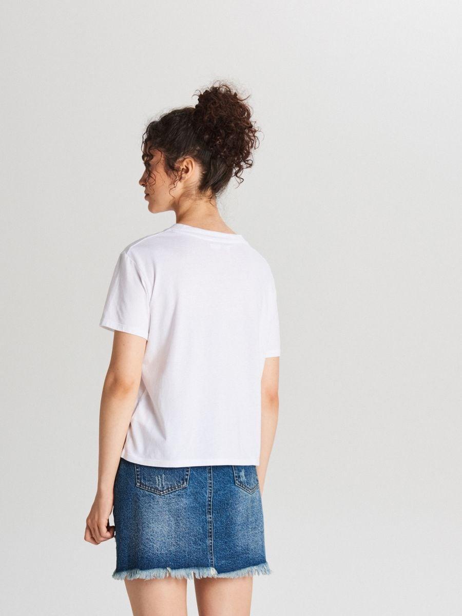 Tričko s potlačou - Biela - WH179-00X - Cropp - 3