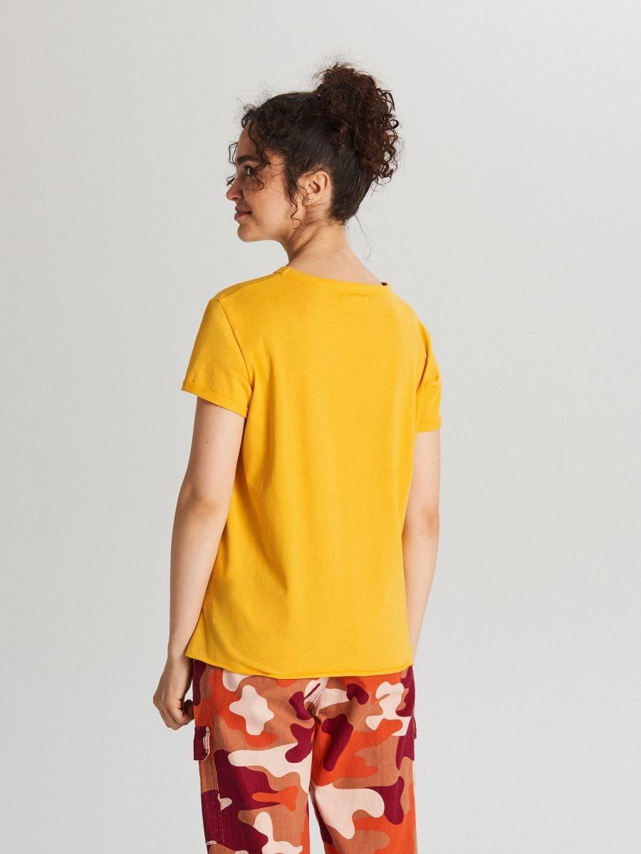 Tričko s potlačou - Žltá - WH707-18X - Cropp - 3