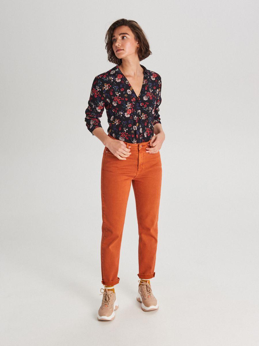 Džínsy straight - Oranžová - WI372-28J - Cropp - 1