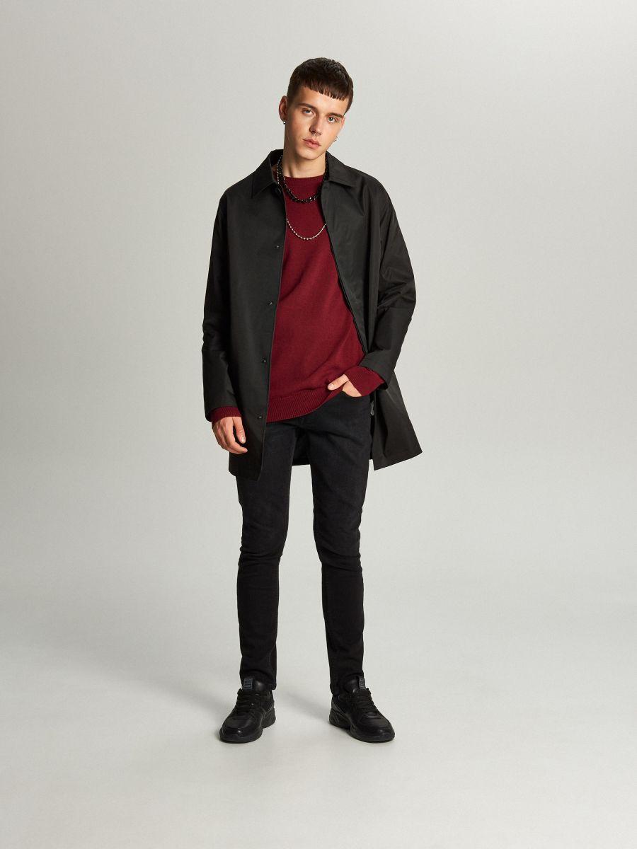 Ľahký kabát - Čierna - WL841-99X - Cropp - 1