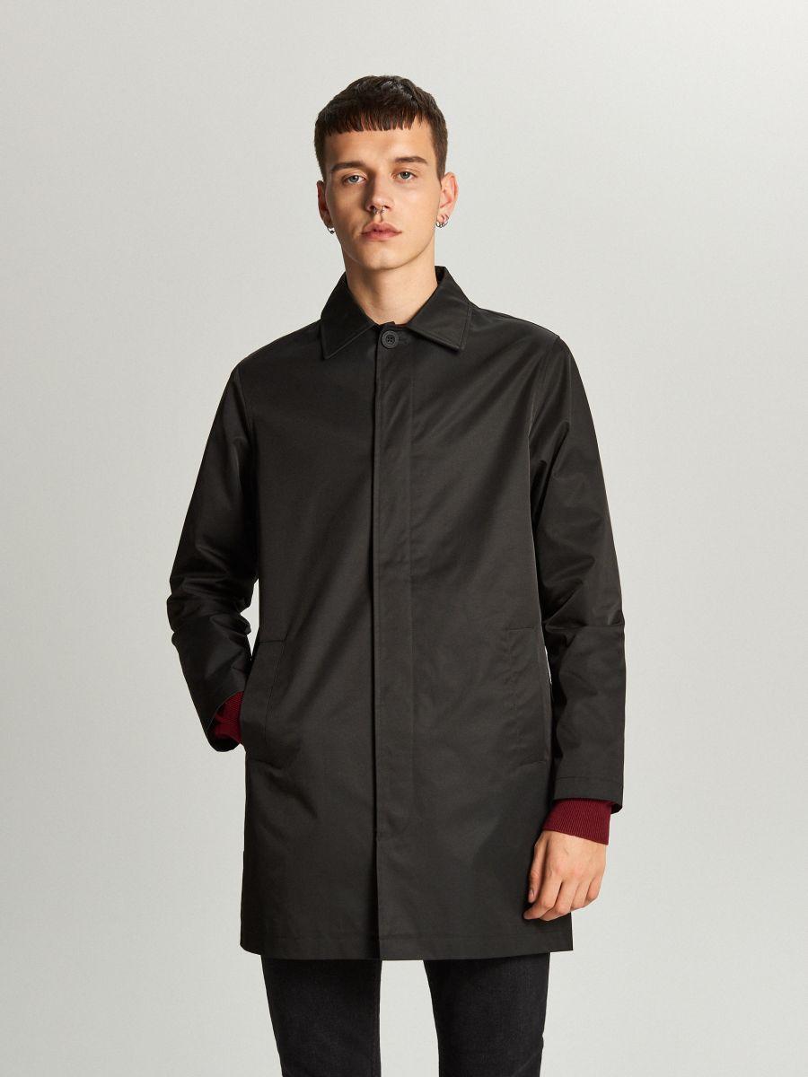 Ľahký kabát - Čierna - WL841-99X - Cropp - 2