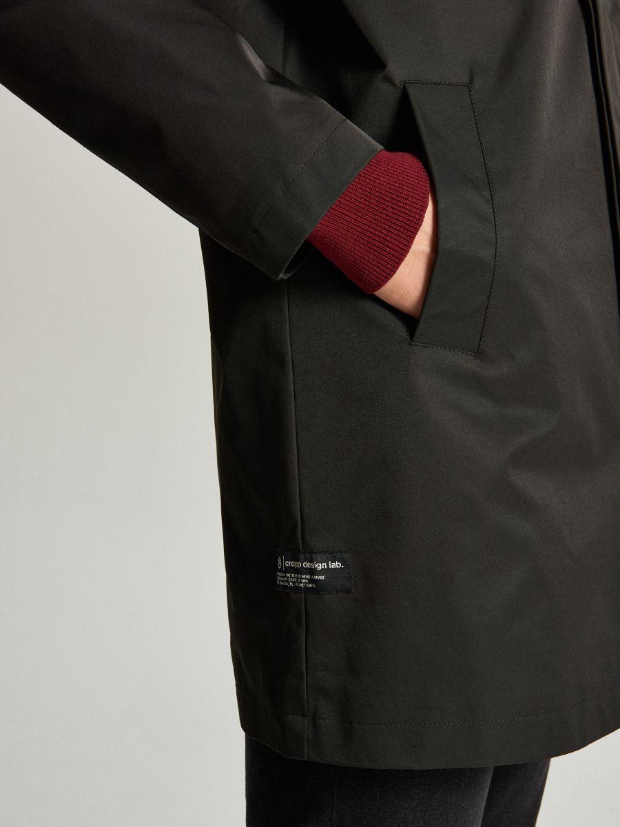 Ľahký kabát - Čierna - WL841-99X - Cropp - 5