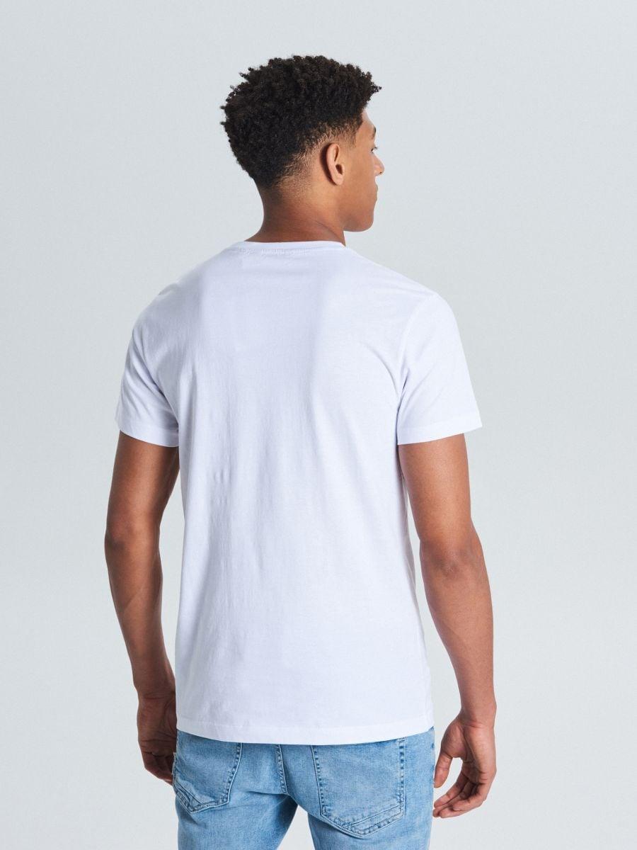 Tričko s vreckom - Biela - WP802-00X - Cropp - 3