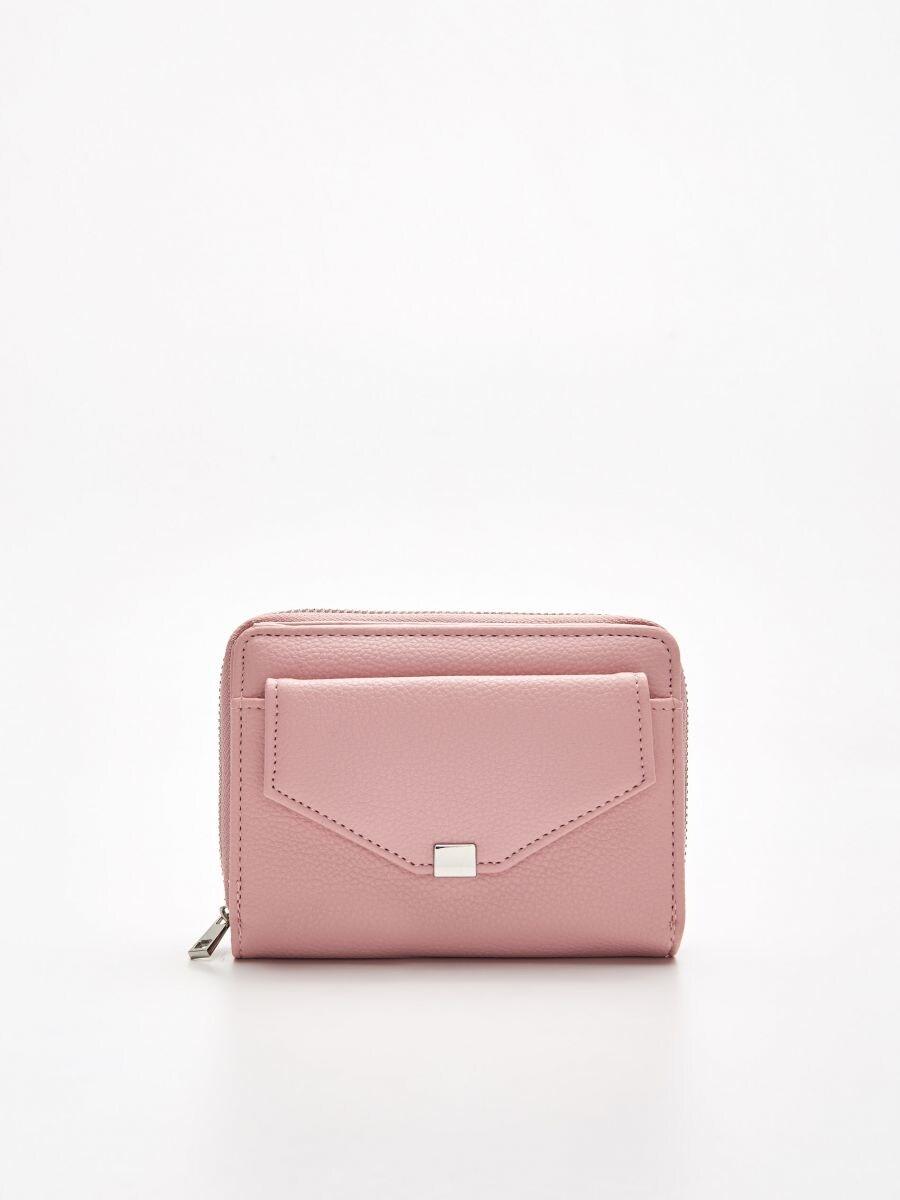 Peňaženka z eko kože - Ružová - WR021-03X - Cropp - 1