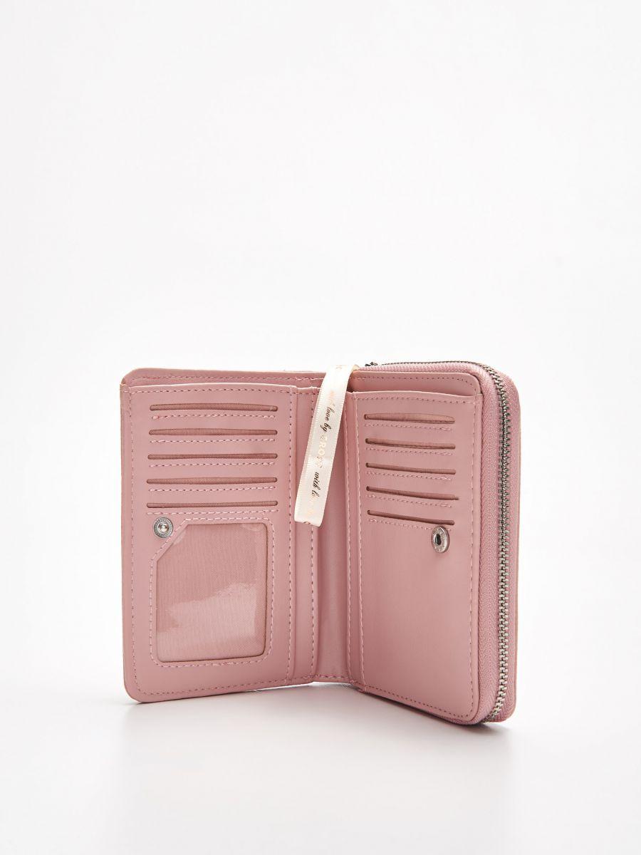 Peňaženka z eko kože - Ružová - WR021-03X - Cropp - 2