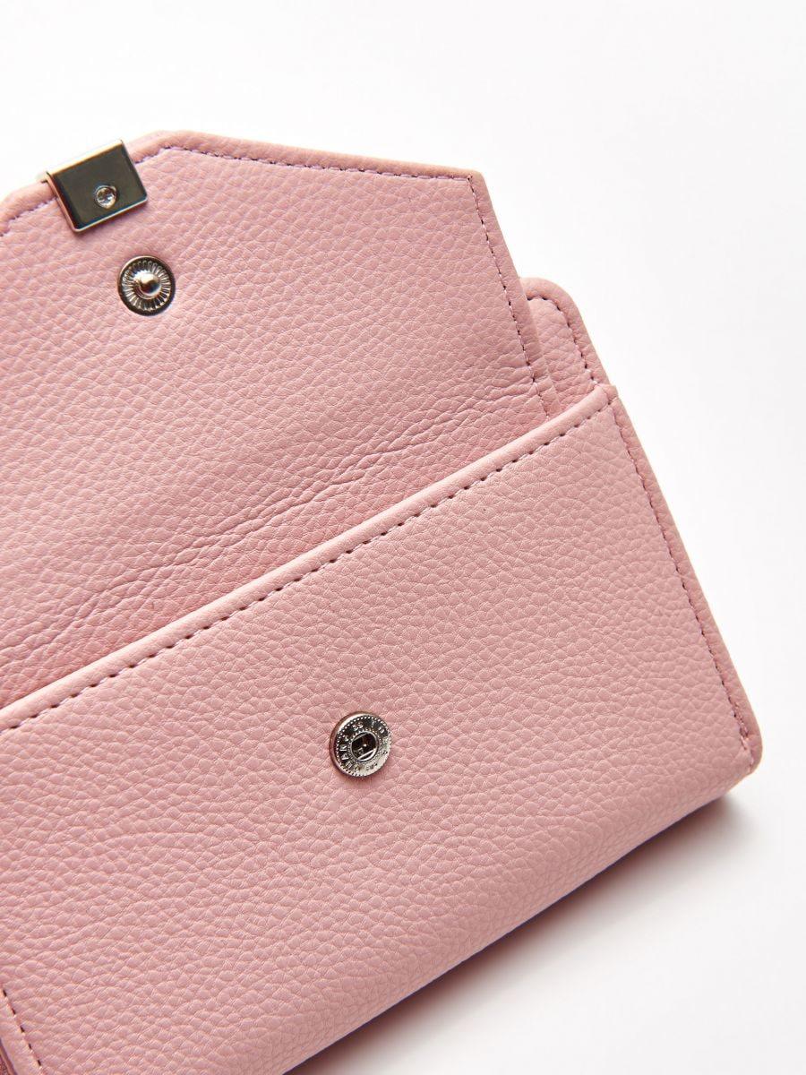 Peňaženka z eko kože - Ružová - WR021-03X - Cropp - 5