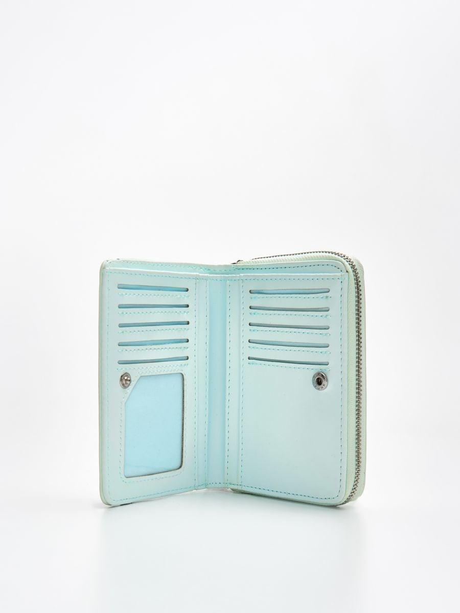 Peňaženka z eko kože - Modrá - WR021-05X - Cropp - 2