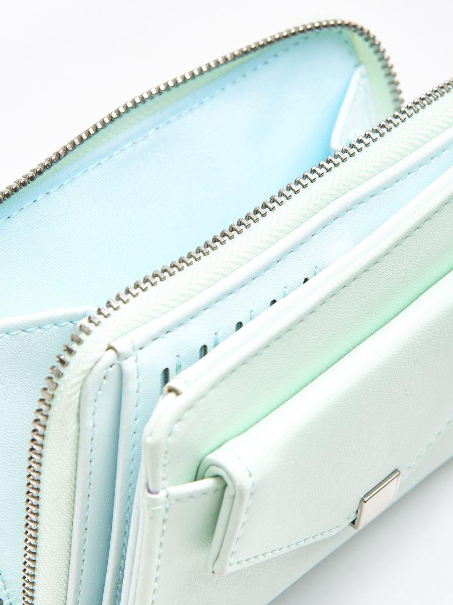 Peňaženka z eko kože - Modrá - WR021-05X - Cropp - 4