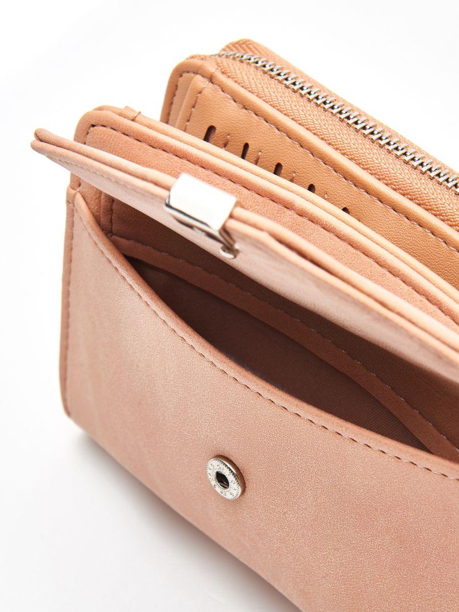 Peňaženka z eko kože - Béžová - WR021-08X - Cropp - 5