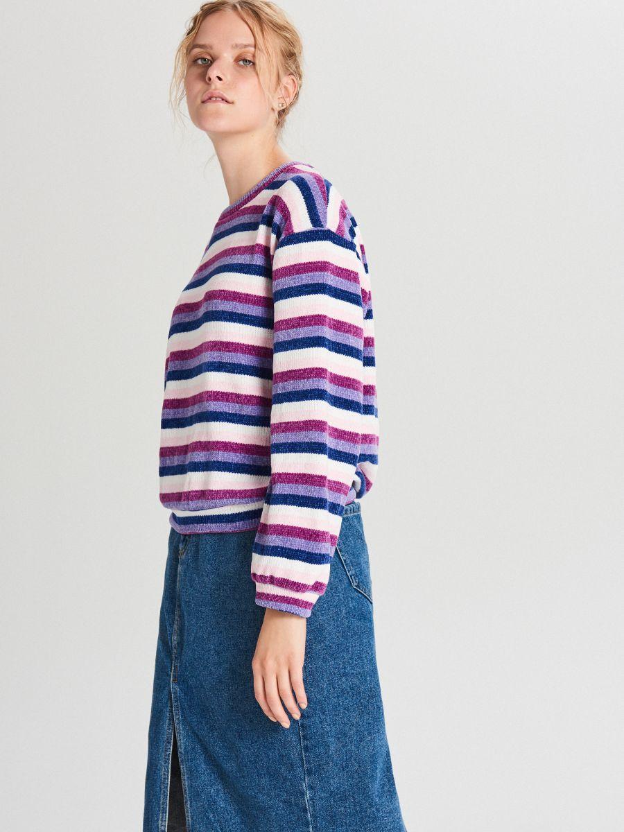 Prúžkovaný sveter - Viacfarebná - WR726-MLC - Cropp - 3