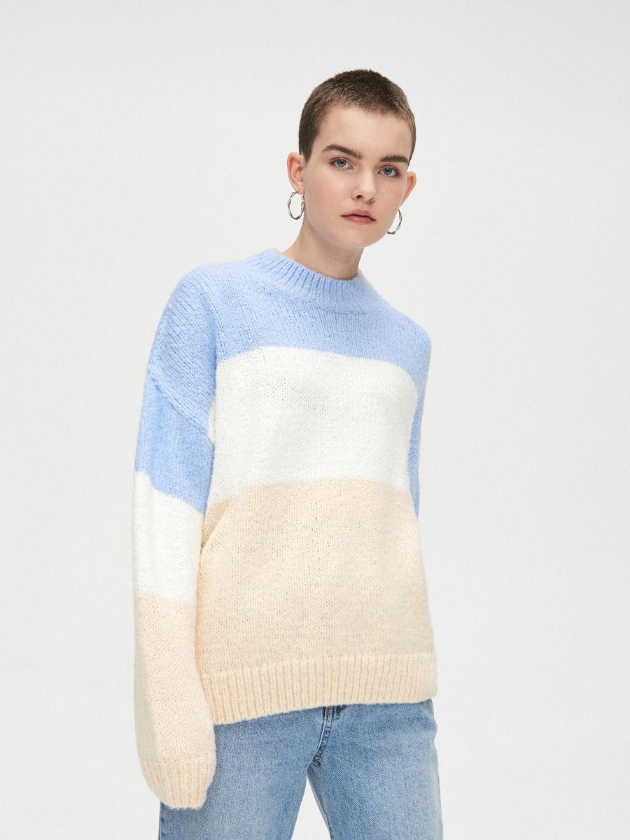 Voľný sveter - Krémová - WR730-02X - Cropp - 3