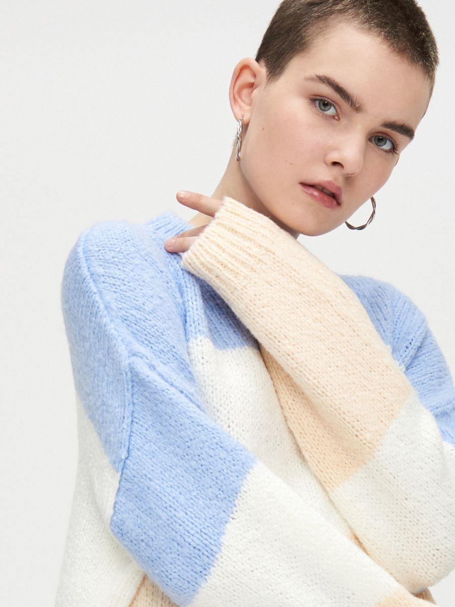 Voľný sveter - Krémová - WR730-02X - Cropp - 4