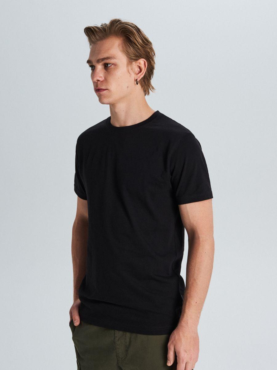 Tričko basic - Čierna - WS390-99X - Cropp - 1