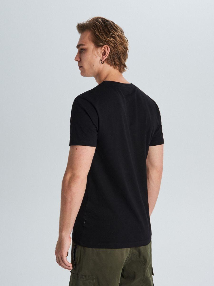 Tričko basic - Čierna - WS390-99X - Cropp - 3