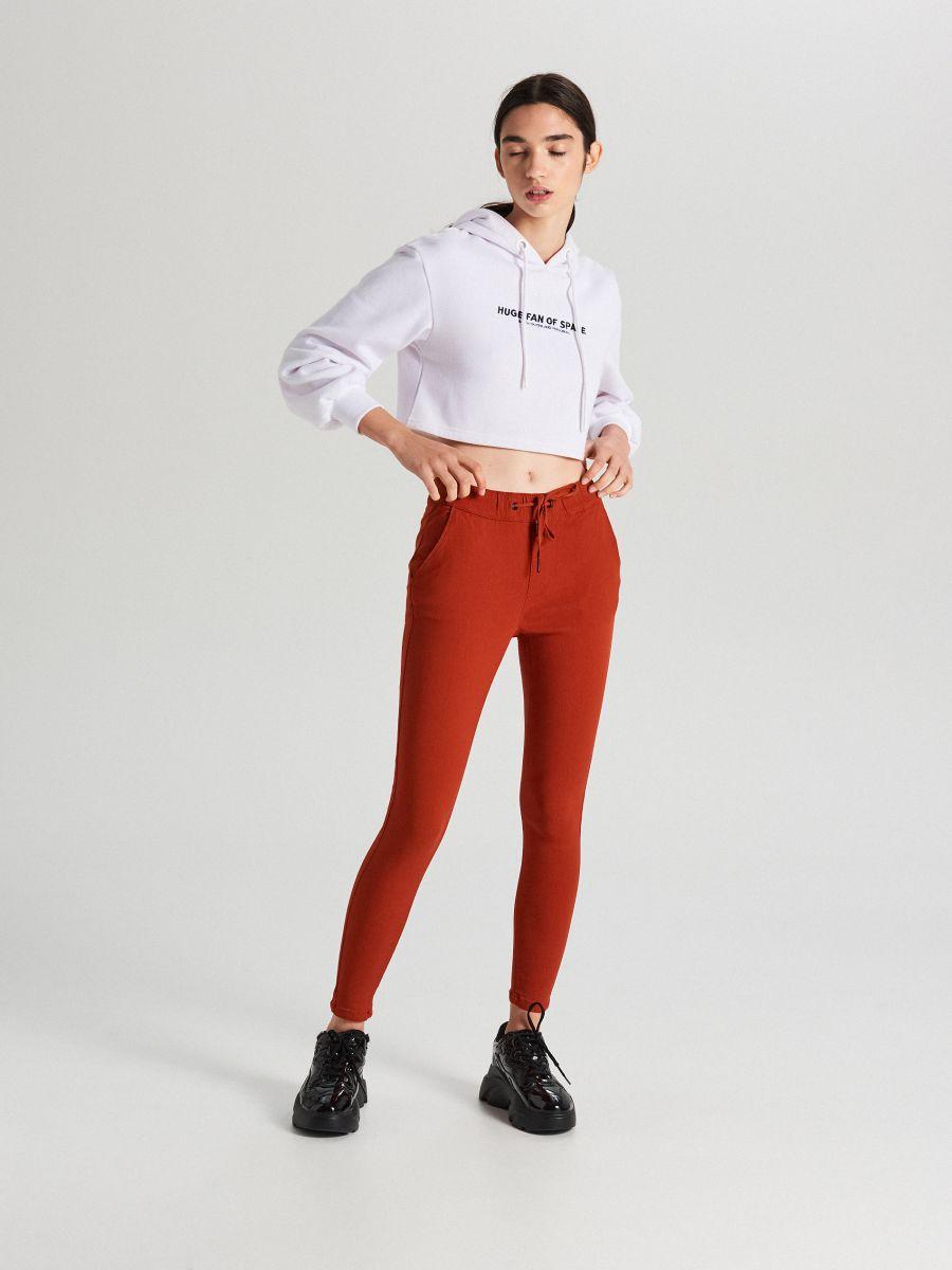 Nohavice so sťahovacím lemom - Oranžová - WS553-28X - Cropp - 1