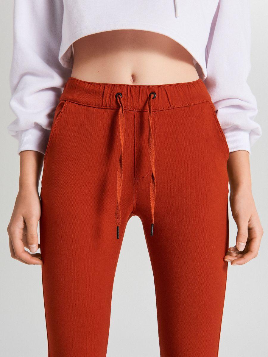 Nohavice so sťahovacím lemom - Oranžová - WS553-28X - Cropp - 3