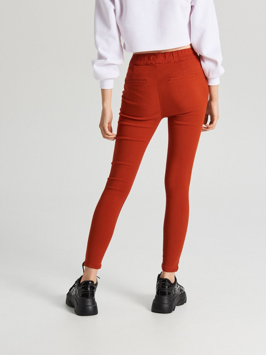 Nohavice so sťahovacím lemom - Oranžová - WS553-28X - Cropp - 4