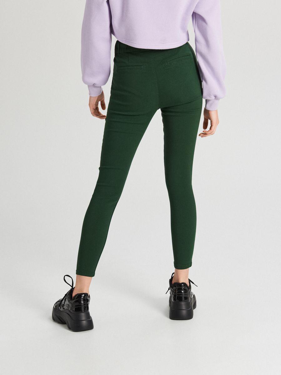Nohavice so sťahovacím lemom - Khaki - WS553-78X - Cropp - 4