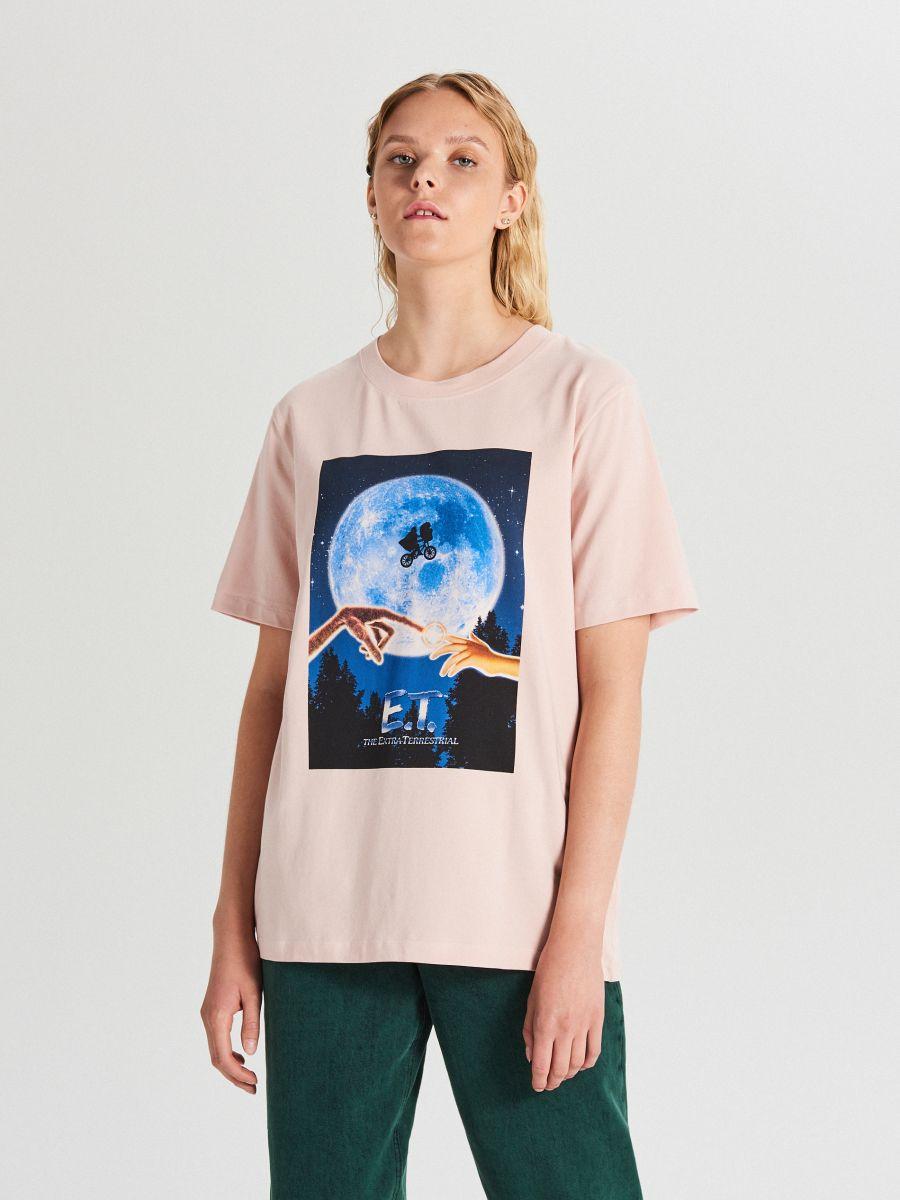 Tričko s potlačou E. T. - Ružová - WS794-03X - Cropp - 1