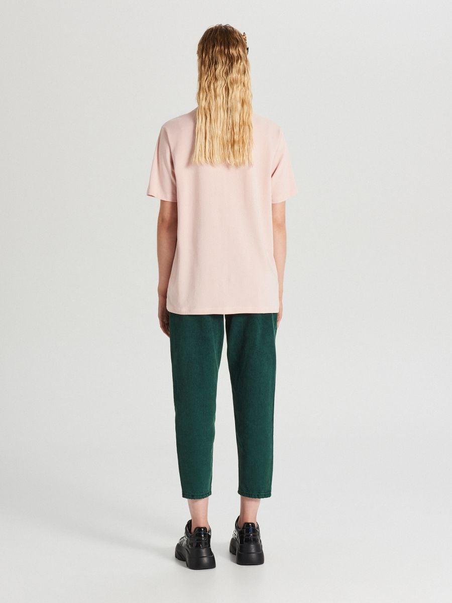 Tričko s potlačou E. T. - Ružová - WS794-03X - Cropp - 3