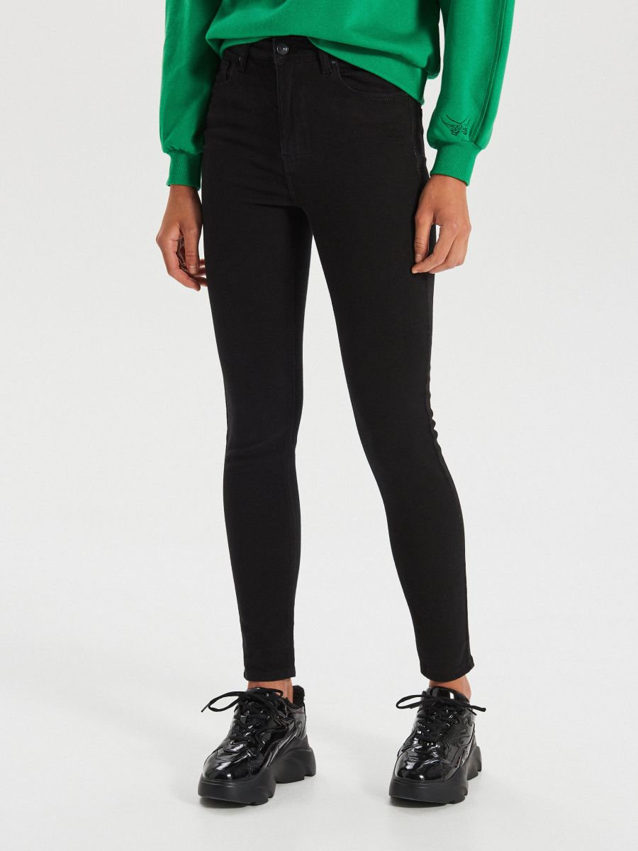 High waist džínsy - Čierna - WT530-99J - Cropp - 2