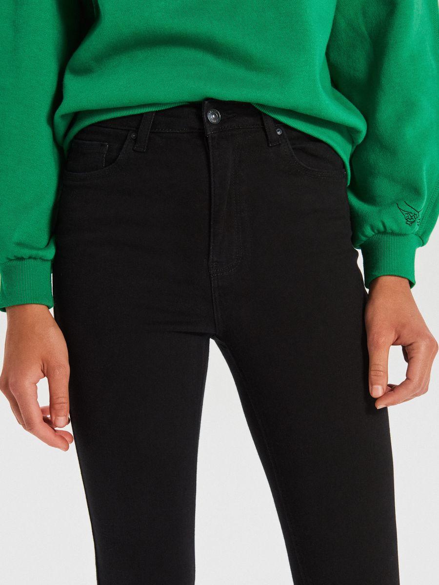 High waist džínsy - Čierna - WT530-99J - Cropp - 3