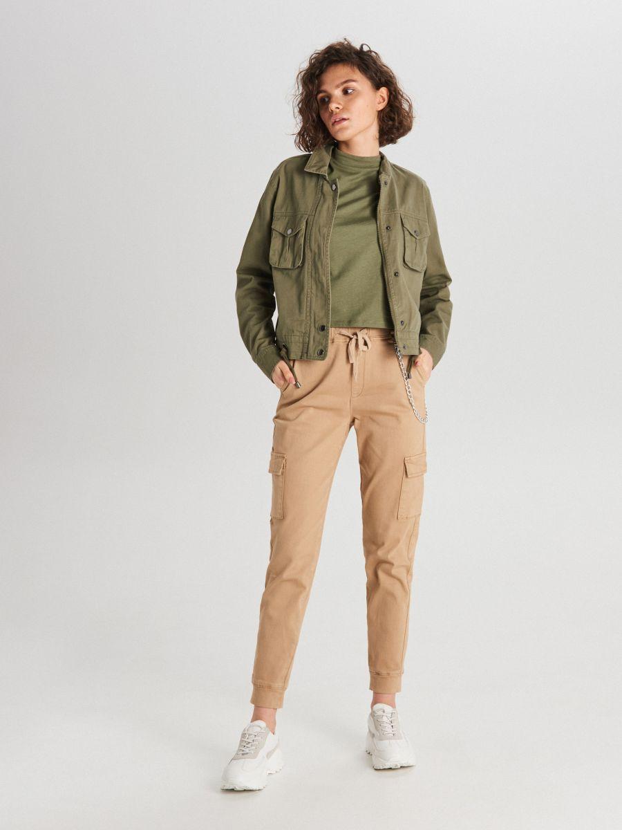 Hladké tričko - Khaki - WV244-78X - Cropp - 3