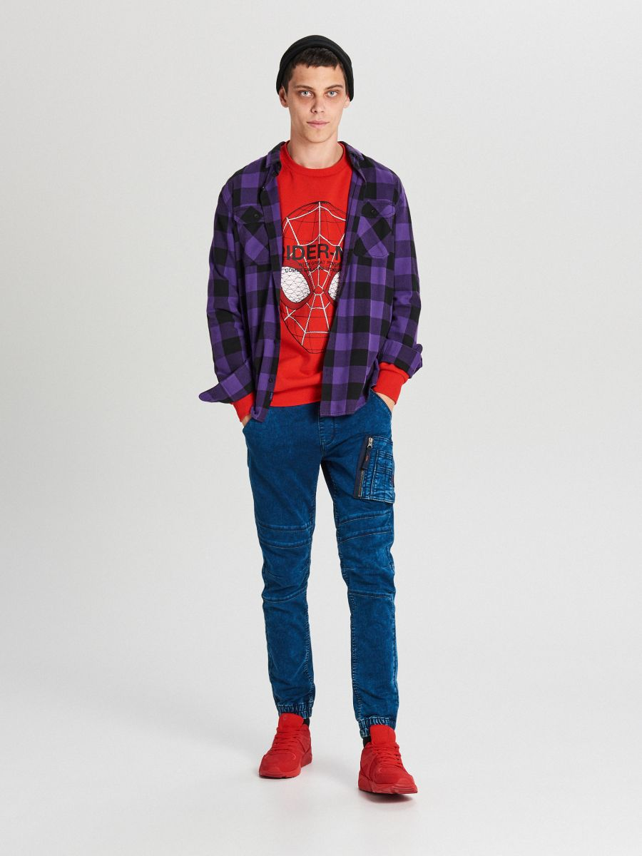 Mikina spiderman - Červená - WX639-33X - Cropp - 3