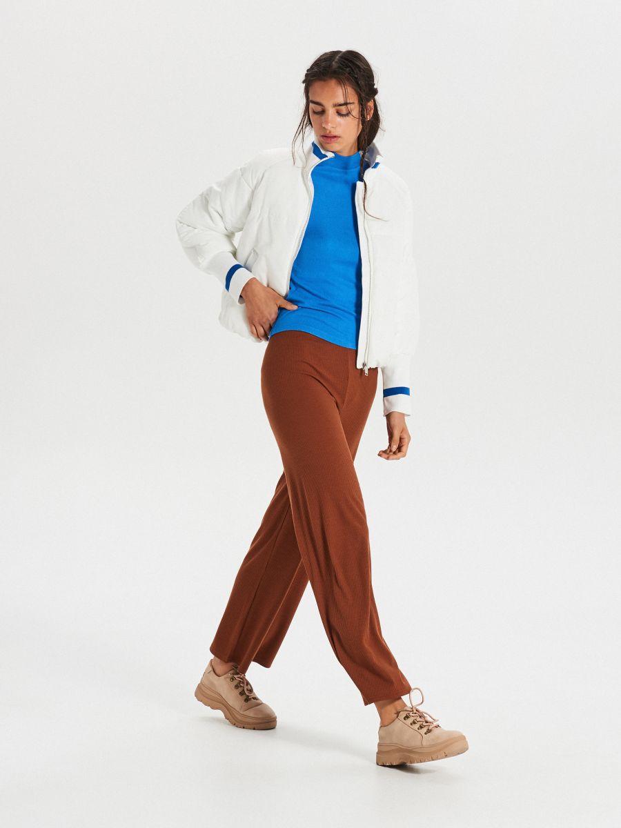 Hladký sveter so stojačikom - Modrá - WZ147-55X - Cropp - 5
