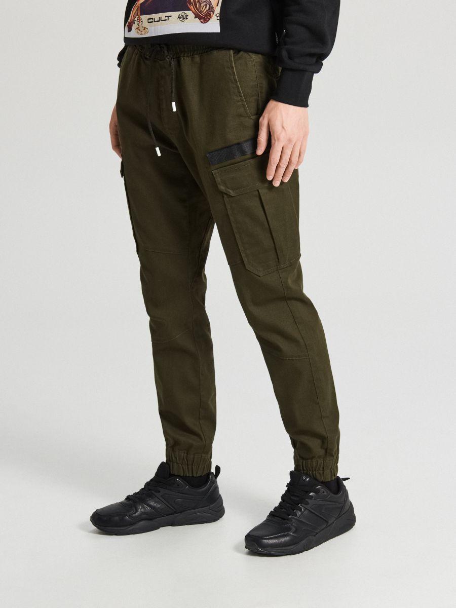 Slim joggery - Khaki - XA544-87X - Cropp - 2