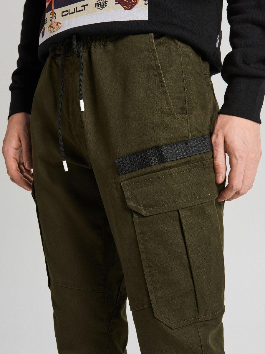 Slim joggery - Khaki - XA544-87X - Cropp - 3