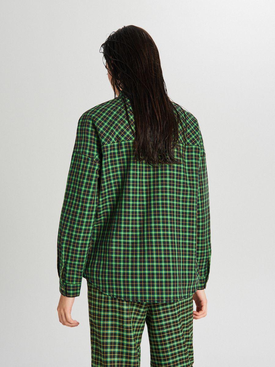 Kockovaná košeľa - Zelená - XF609-76X - Cropp - 4