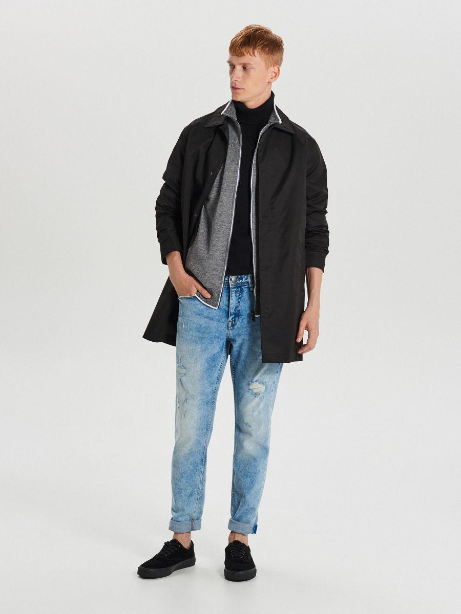 Mikina track jacket na zips - Svetlošedá - XG626-09M - Cropp - 2