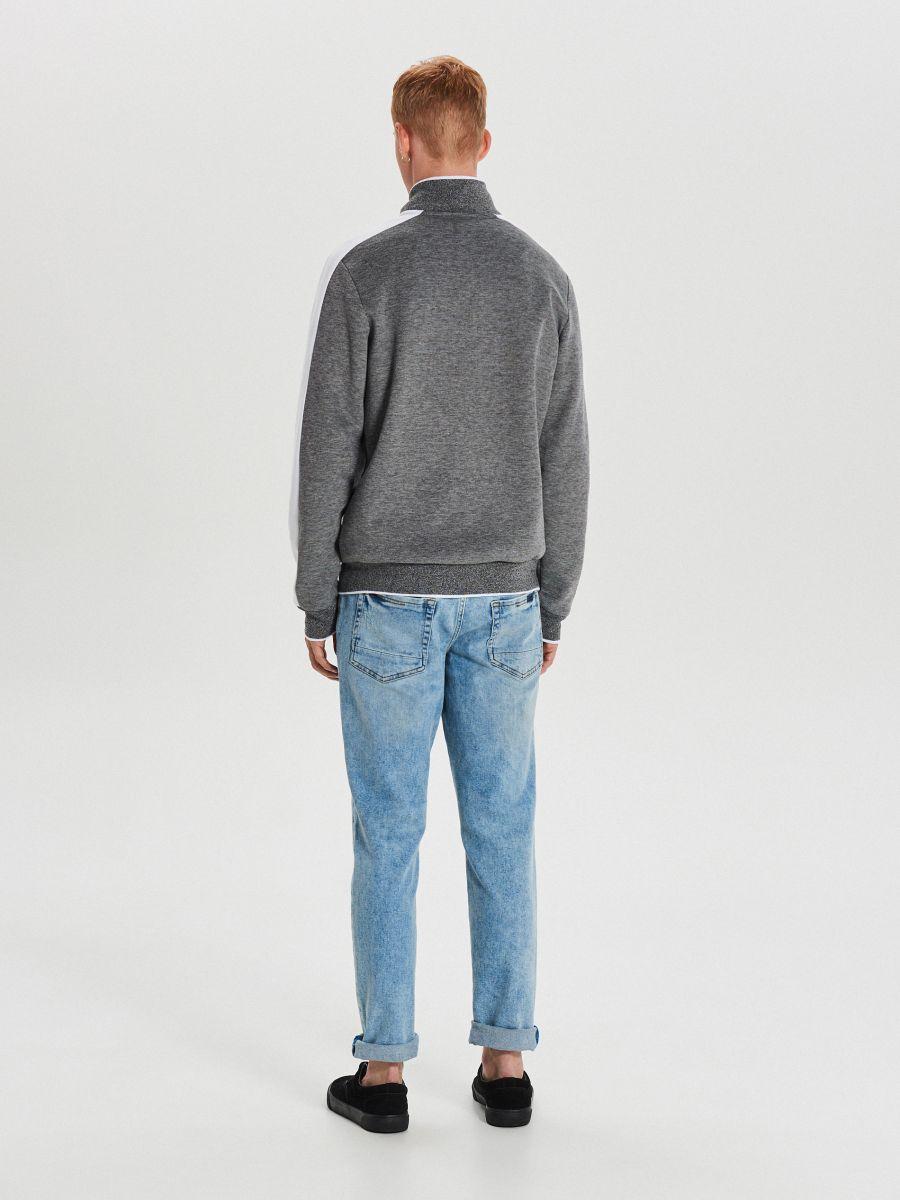 Mikina track jacket na zips - Svetlošedá - XG626-09M - Cropp - 6