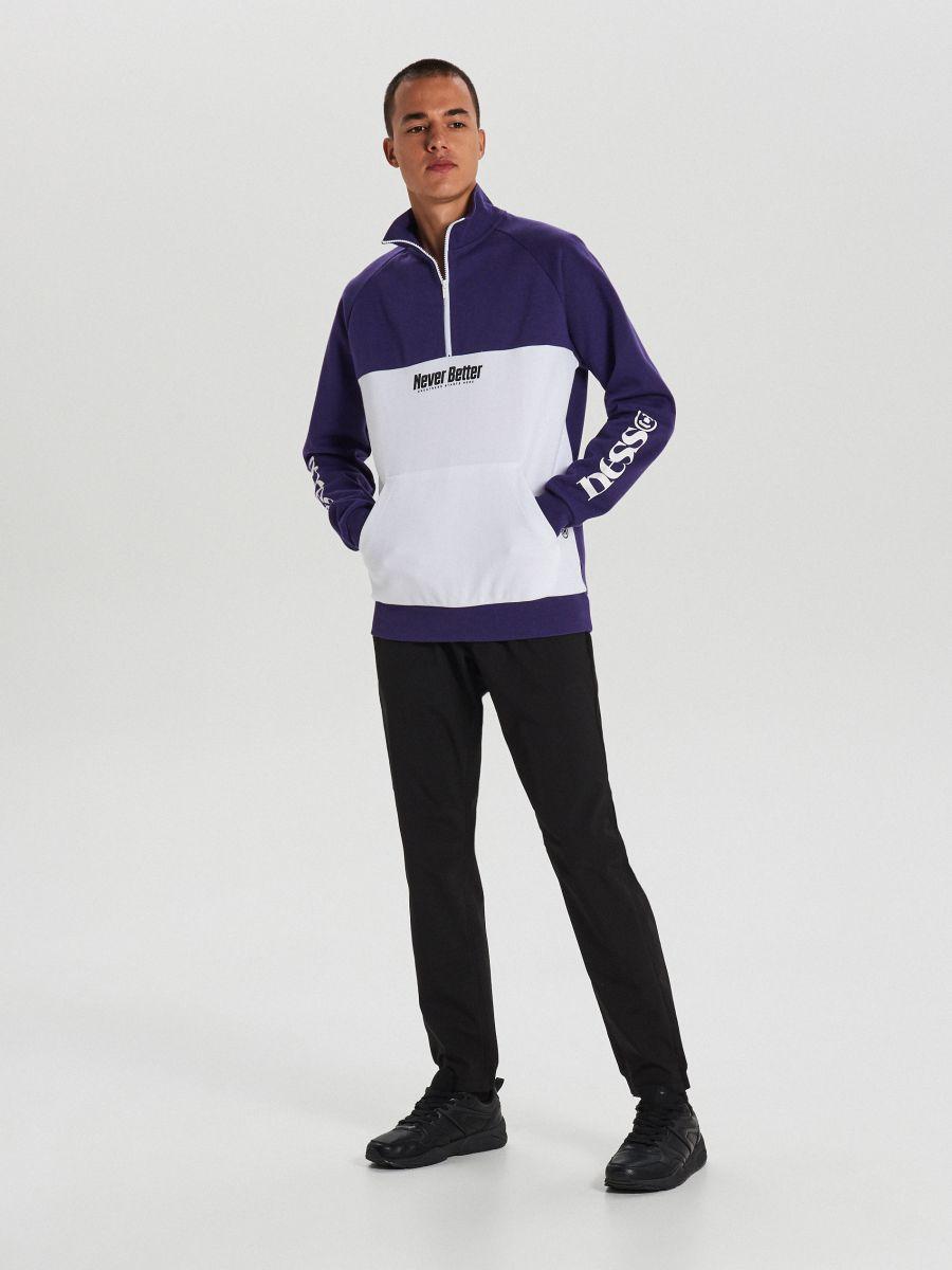 Mikina track jacket - Purpurová - XG632-49X - Cropp - 1