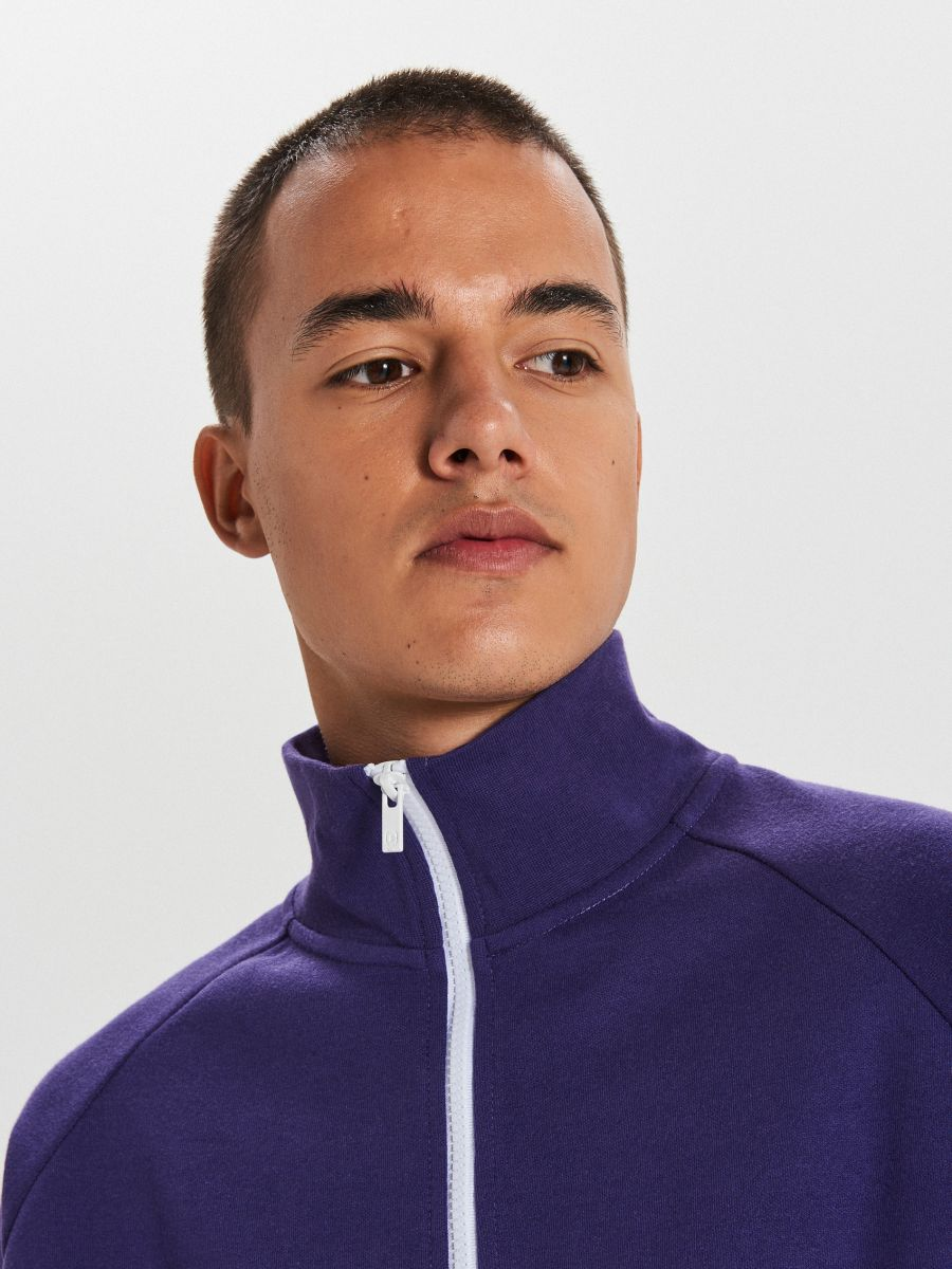 Mikina track jacket - Purpurová - XG632-49X - Cropp - 3