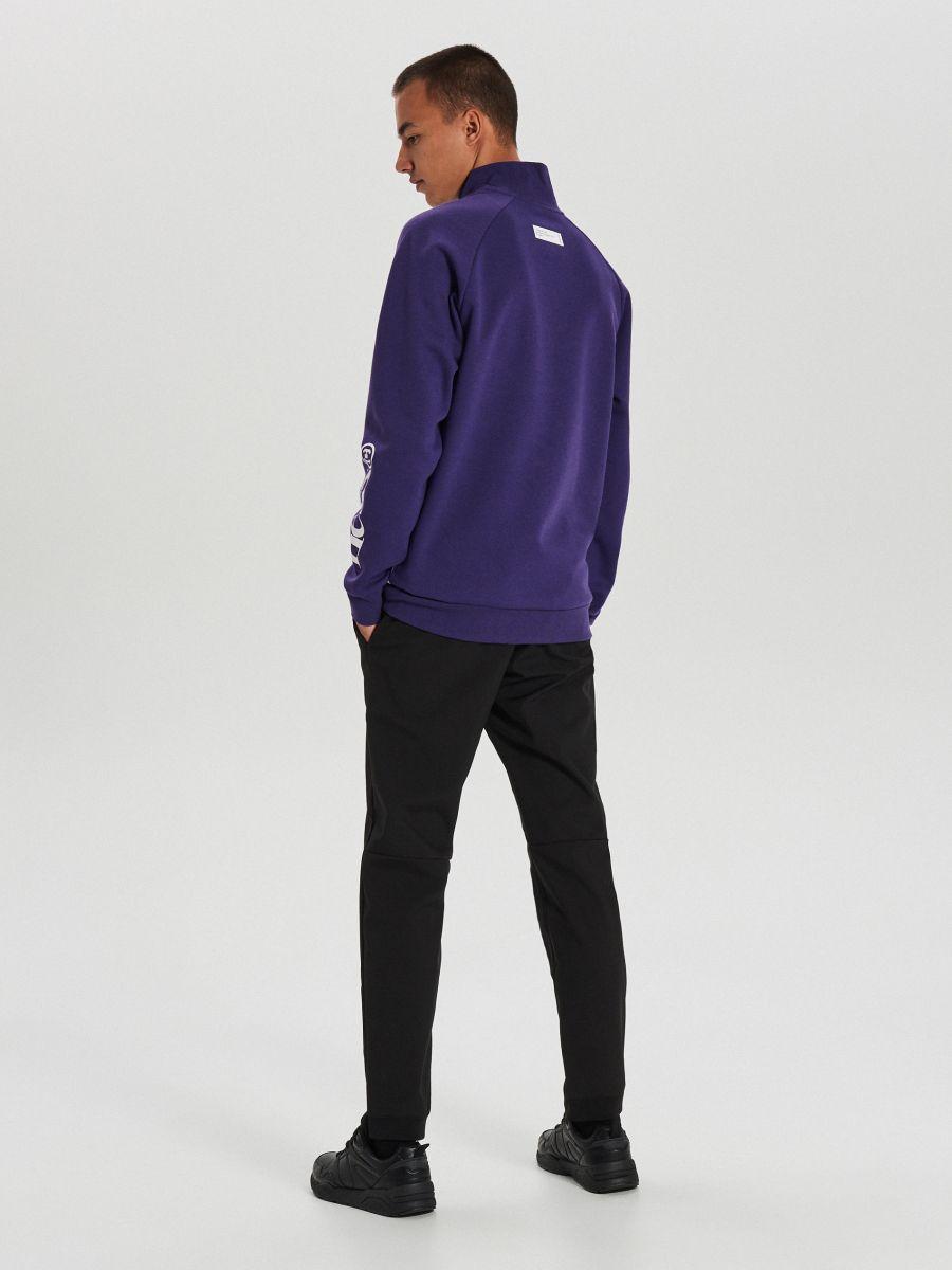Mikina track jacket - Purpurová - XG632-49X - Cropp - 4