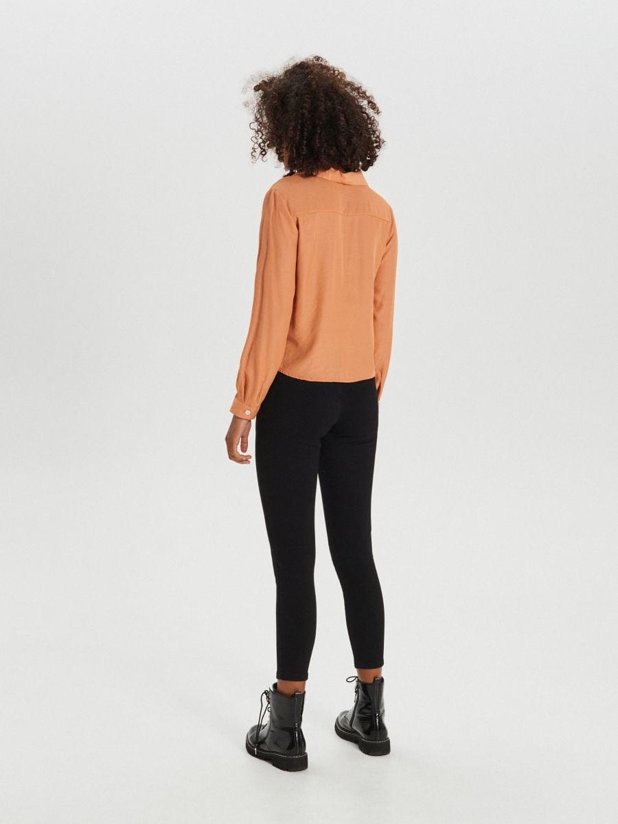 Košeľa s vreckami - Oranžová - XI755-28X - Cropp - 4