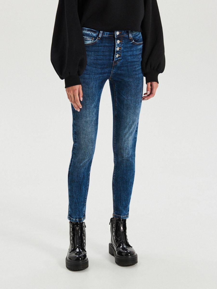 High waist džínsy - Modrá - XS700-55J - Cropp - 3