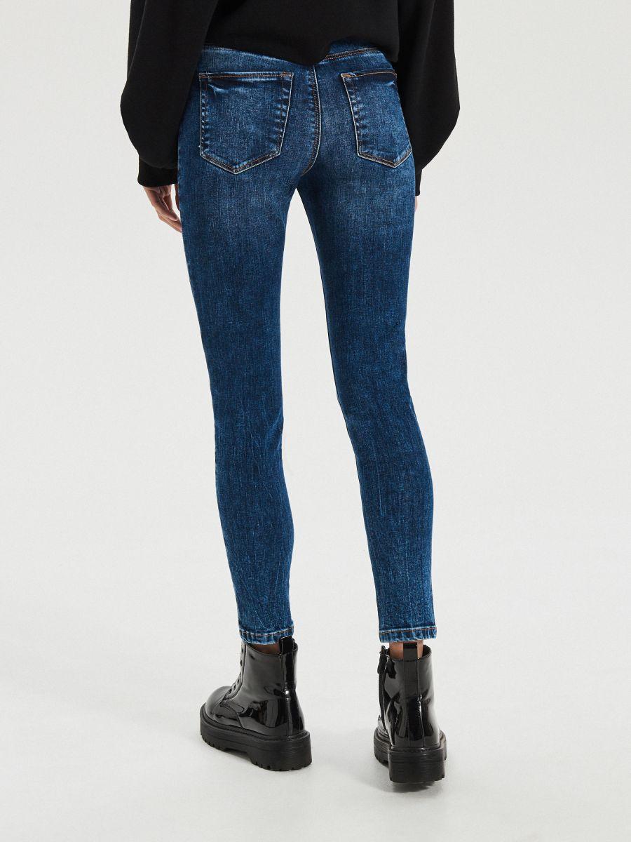 High waist džínsy - Modrá - XS700-55J - Cropp - 5