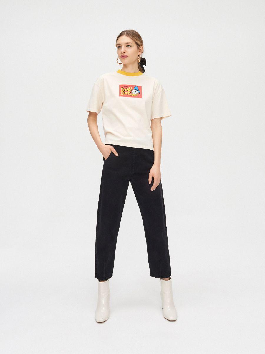 Tričko Donald Duck - Krémová - YC837-02X - Cropp - 2