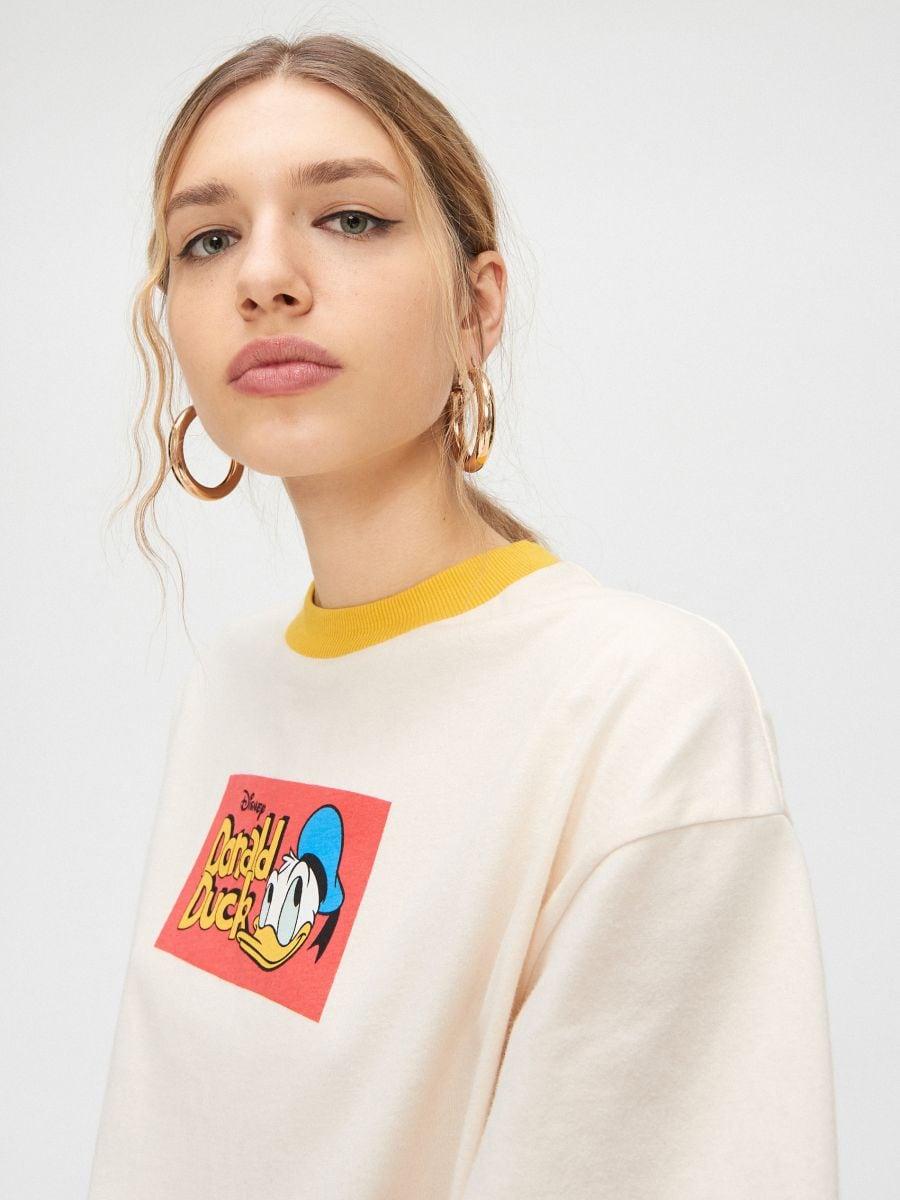 Tričko Donald Duck - Krémová - YC837-02X - Cropp - 3