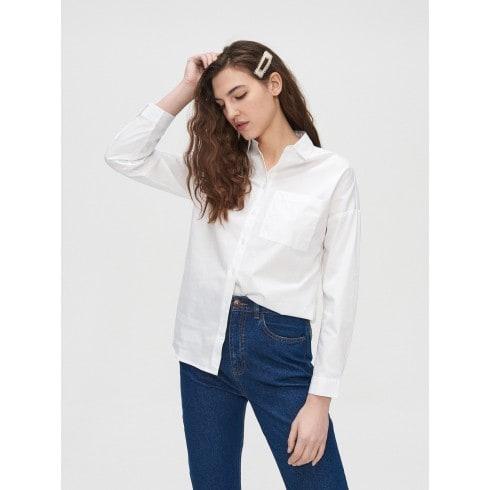 Bavlnená hladká košeľa