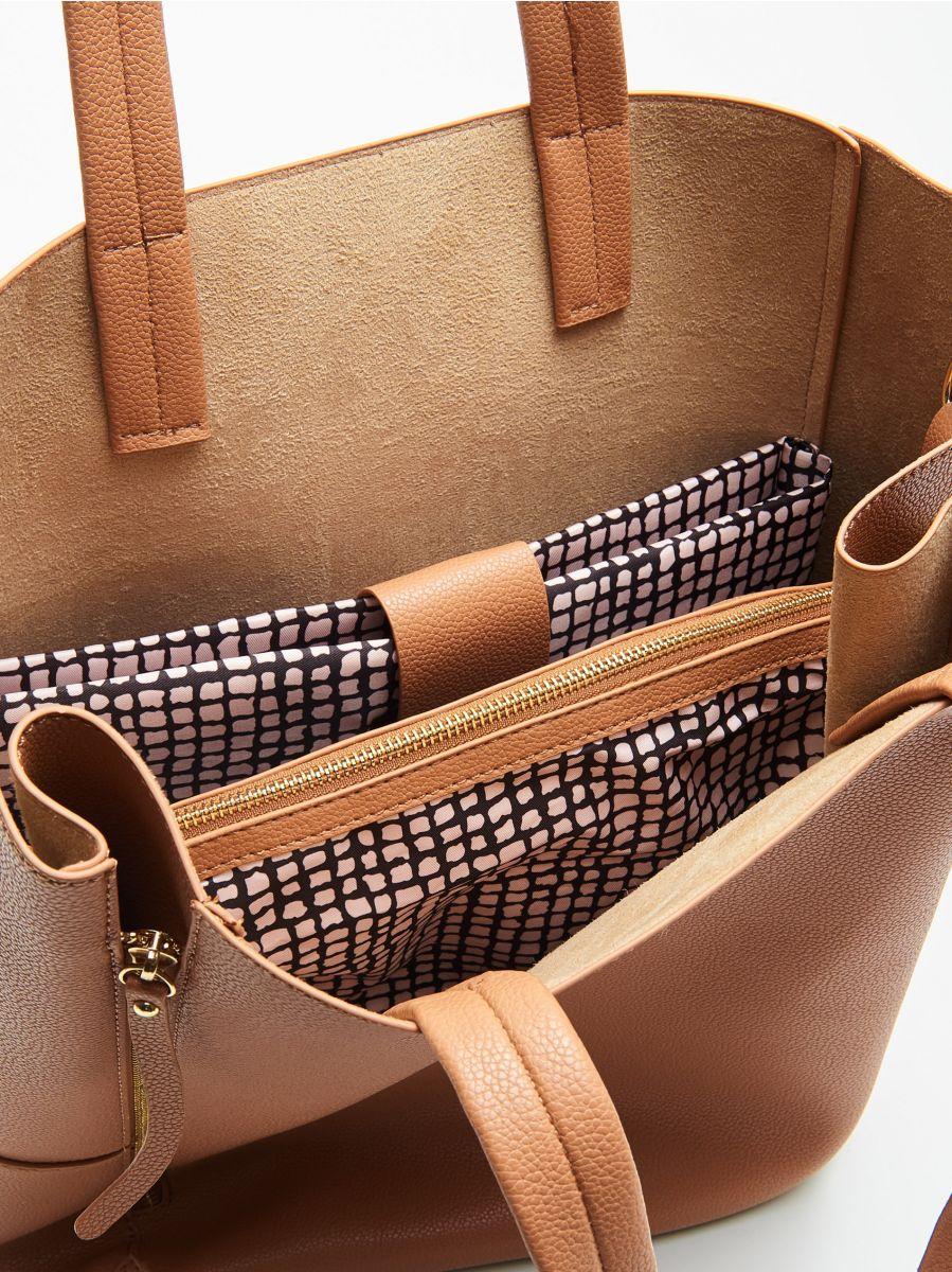 Geantă shopper cu compartiment pentru laptop - BEJ - VY985-08X - Cropp - 4