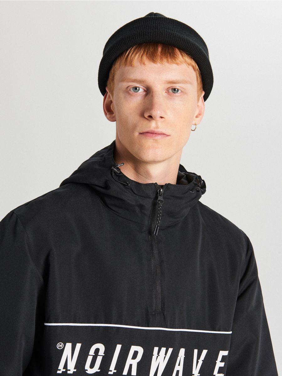 Jachetă tip hanorac, cu glugă - NEGRU - WA087-99X - Cropp - 4