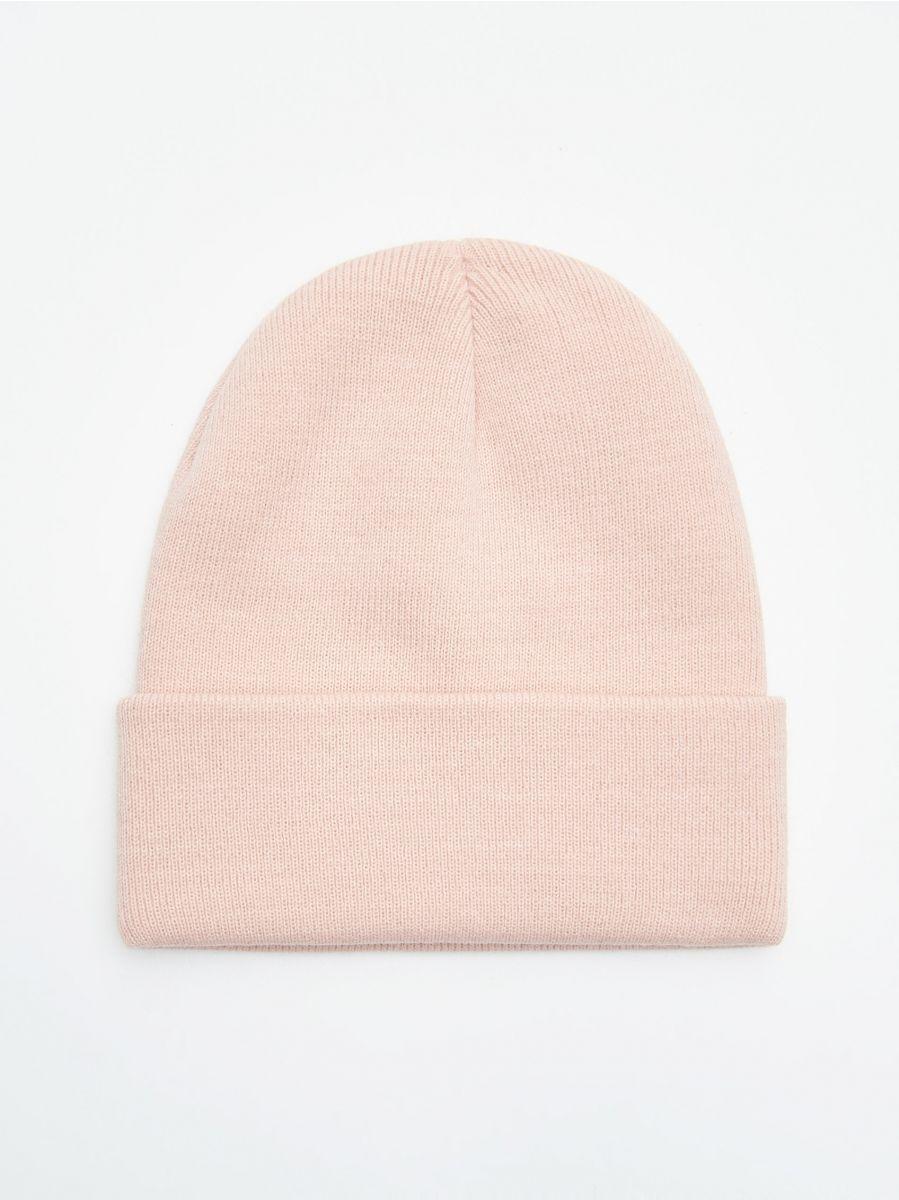 Șapcă cu emblemă - ROZ - WD960-03X - Cropp - 2